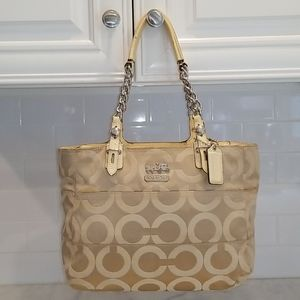 Coach Madison Tribeca Sateen OpArt Signature Tote